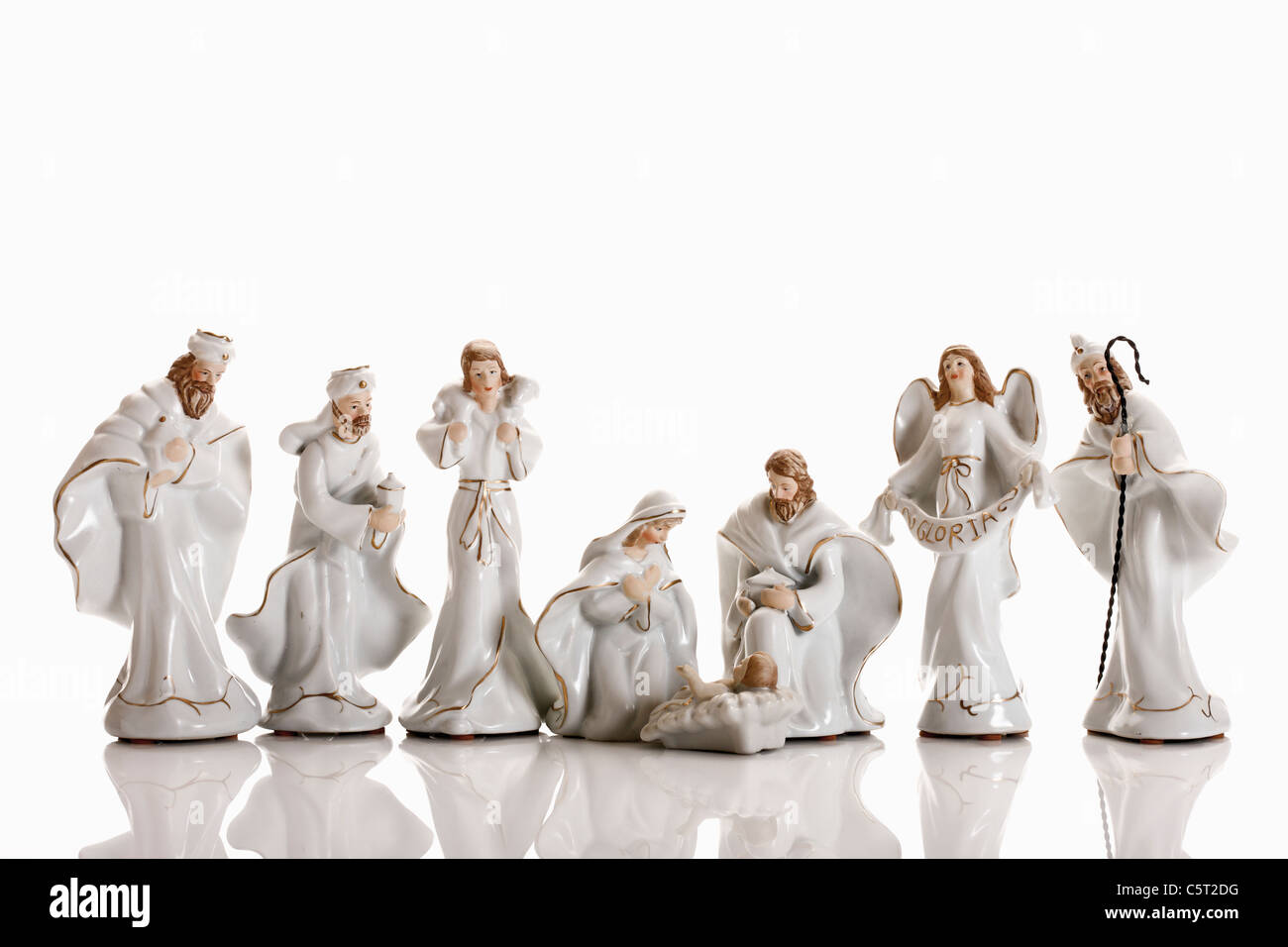 Christmas decoration, nativity scene, crib figurines - Stock Image