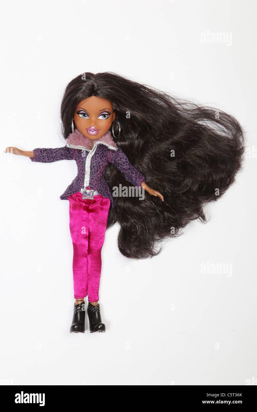 Bratz doll with long dark hair , Lydia. - Stock Image