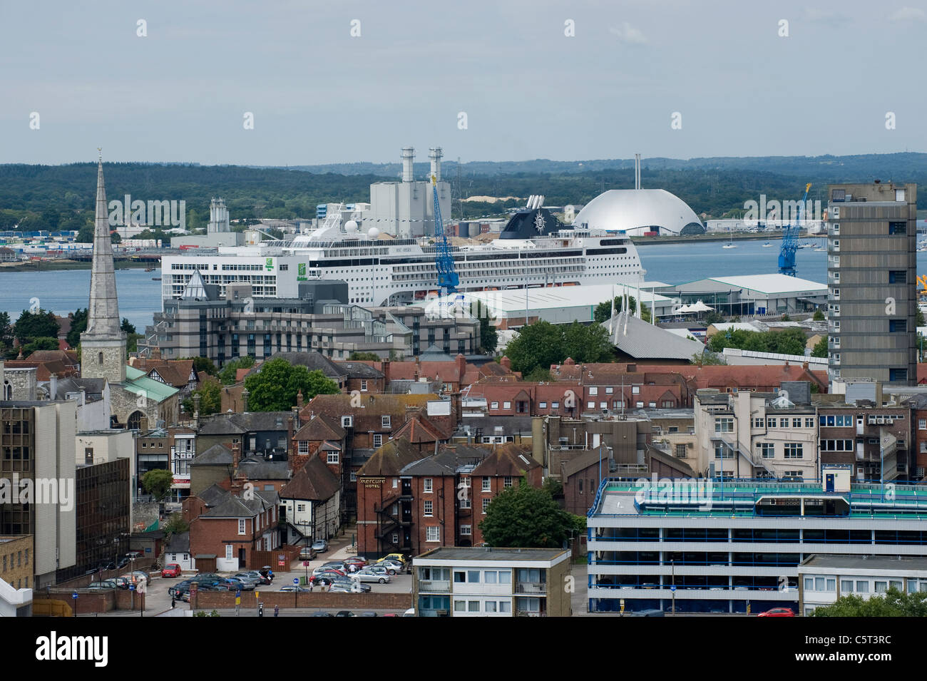 Southampton City centre, England - rooftop view - Stock Image