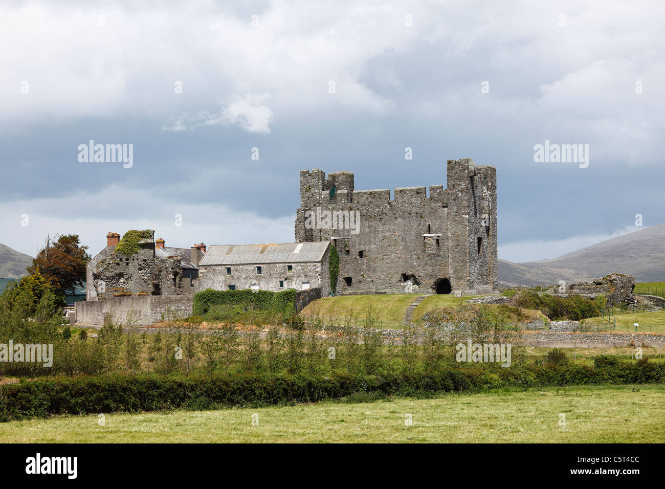 United Kingdom, Northern Ireland, County Down, View of Greencastle Stock Photo