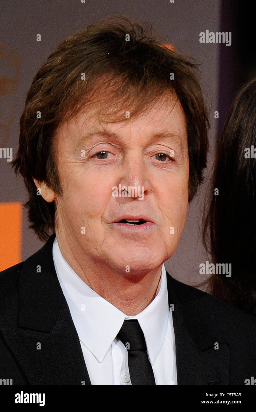 Sir Paul McCartney Headshot 2011 - Image Copyright Hollywood Head Shots - Stock Image