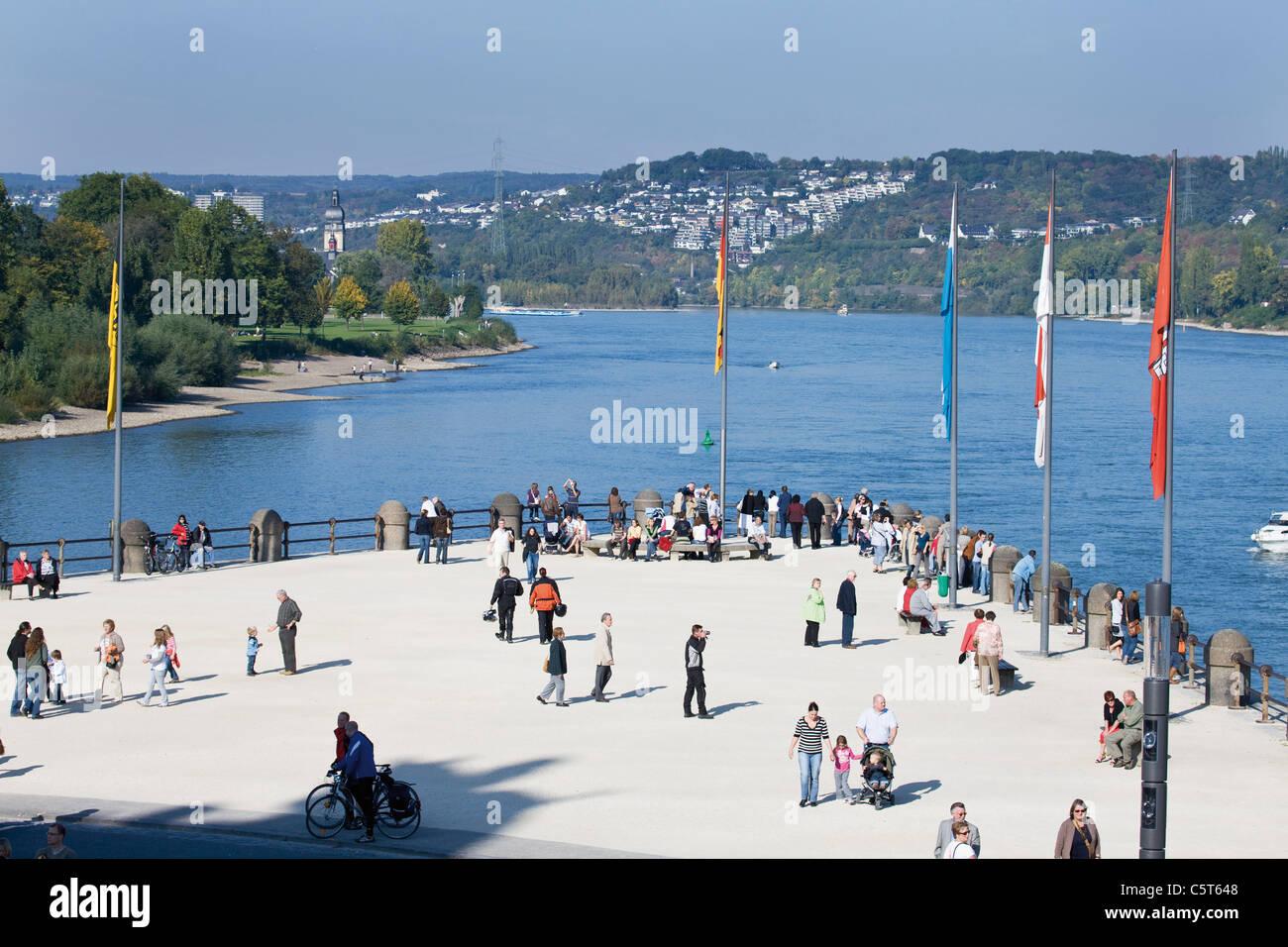 Germany, Rhineland-Palatinate, Koblenz, Deutsches Eck - Stock Image