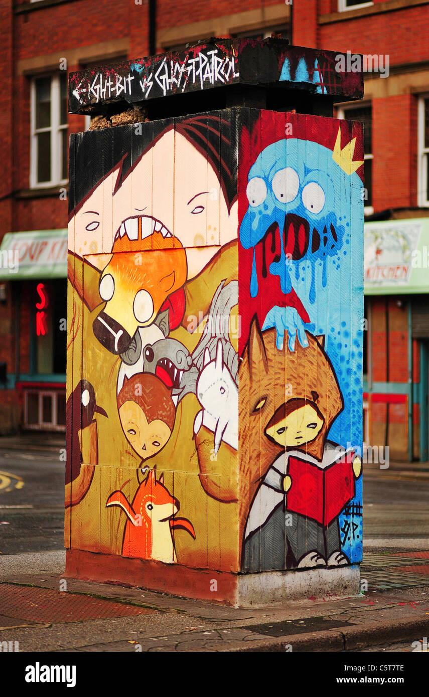 Manchester Graffiti Cartoon Monster Stock Photos Manchester