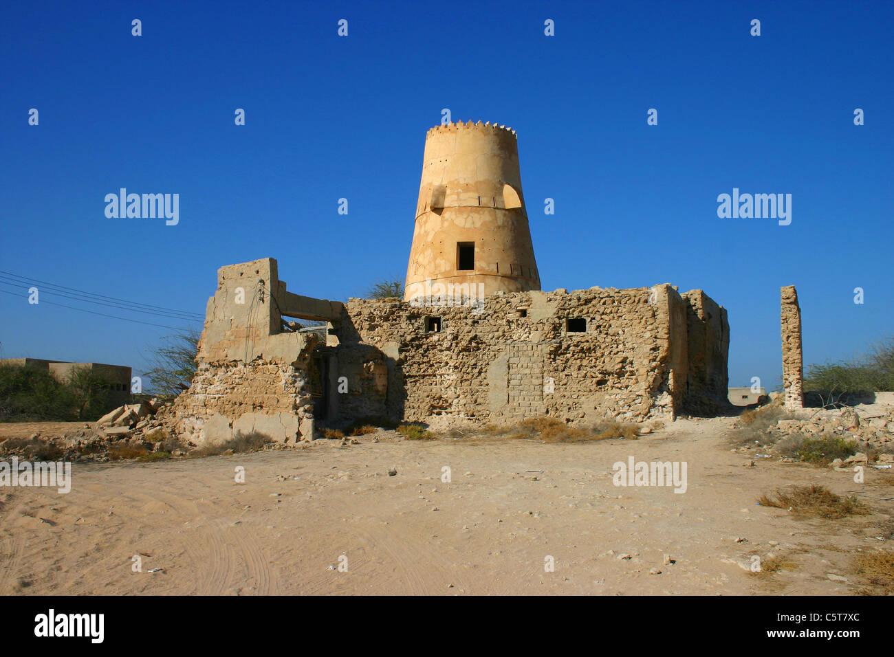 Tower in Al Jazeera Al Hamra, Ras Al Khaimah, U.A.E. - Stock Image