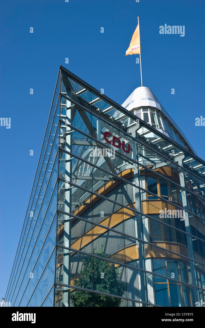 Germany, Berlin, CDU, Party headquarters building, low angle view - Stock Image