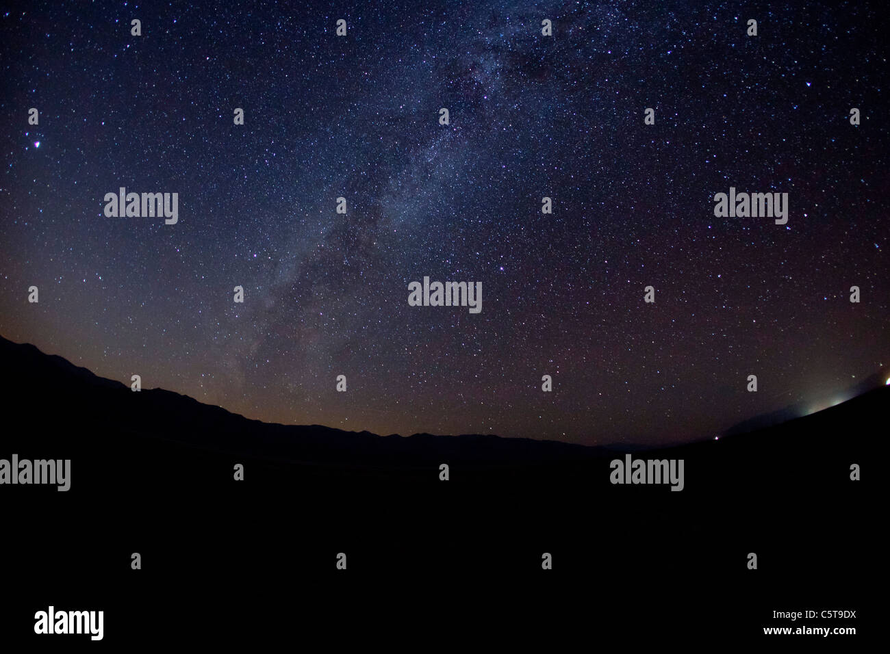 Milky way from Death Valley National Park California USA - Stock Image