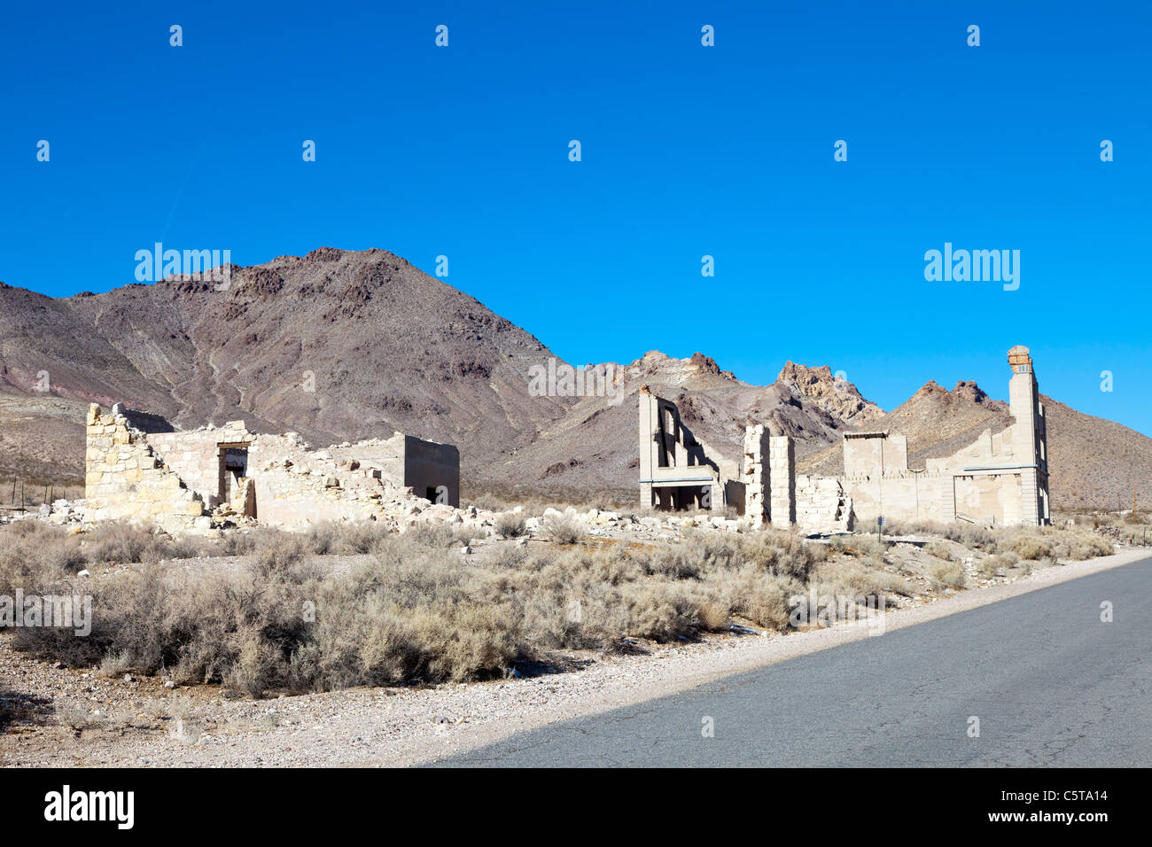 Rhyolite Ghost Town, Nevada, USA - Stock Image