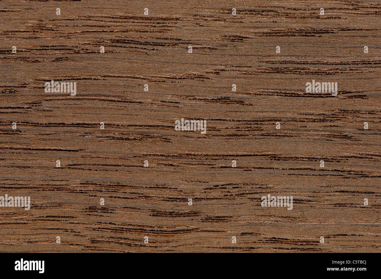 Wood surface, Moor Oak wood (Quercus robur) full frame - Stock Image