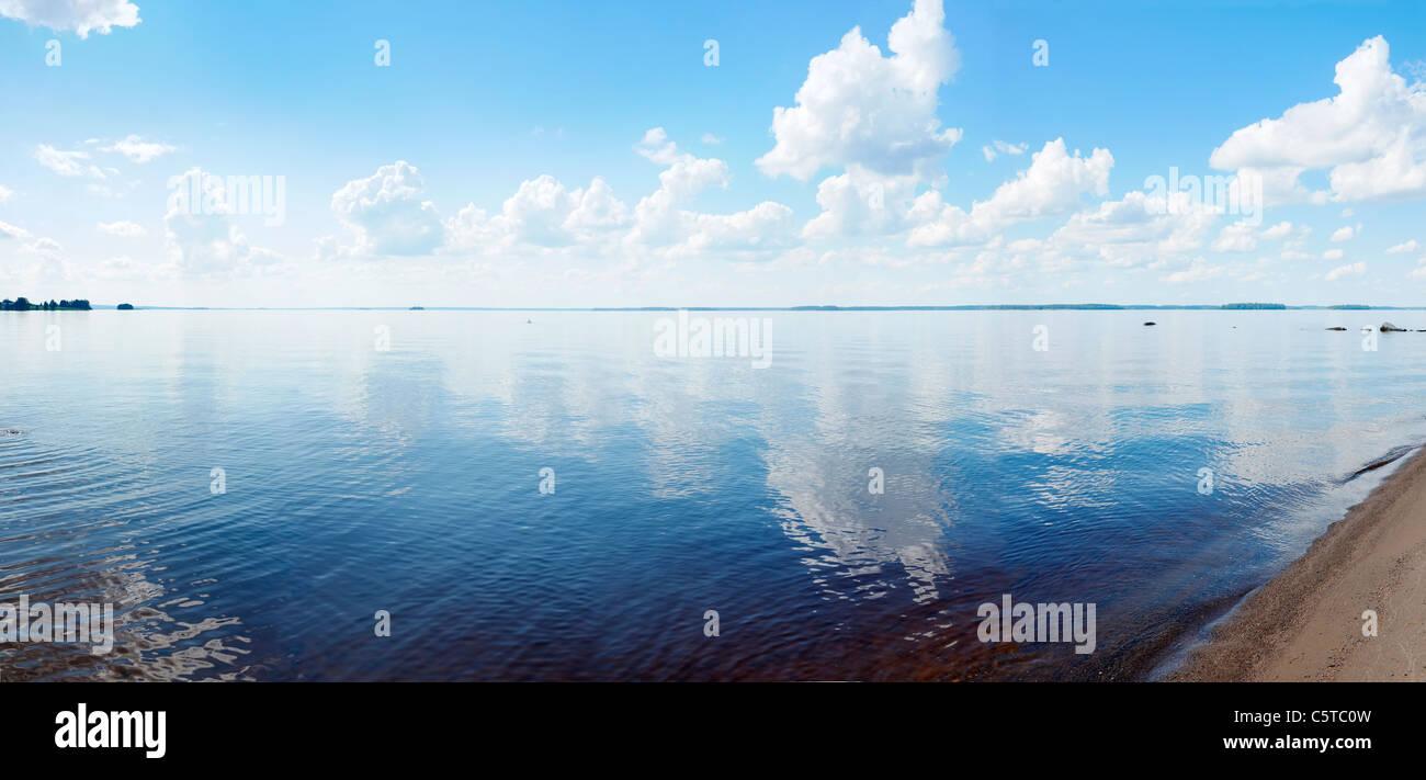 Finnish Lake Landscape: Lake Lappajärvi. - Stock Image
