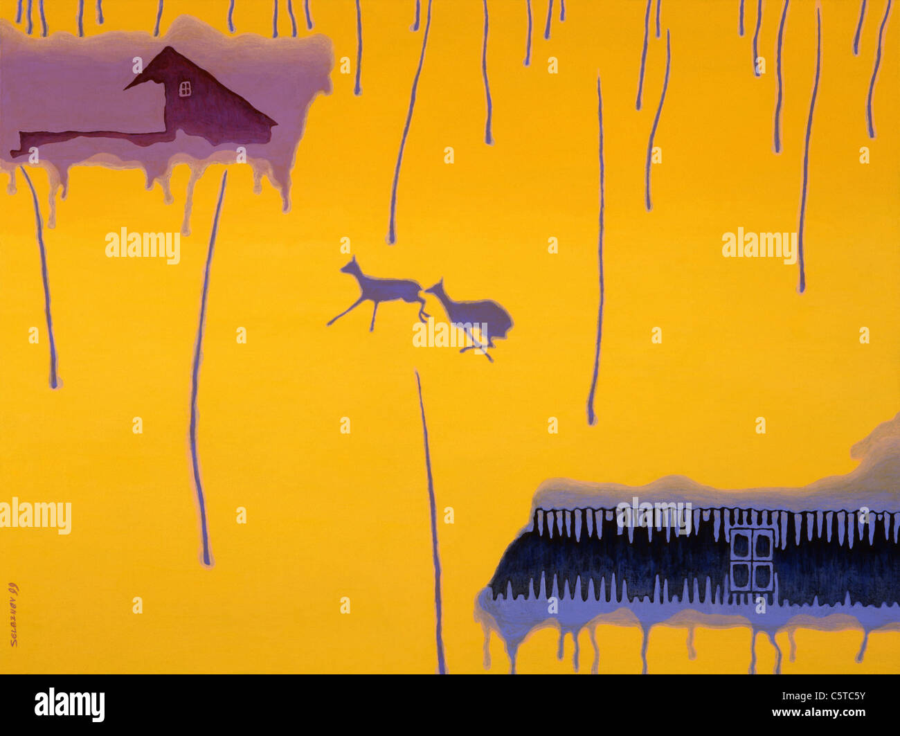painting,postmodern,illustration - Stock Image