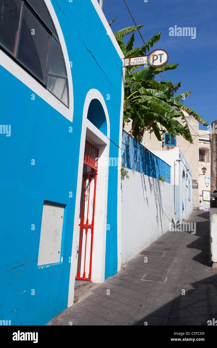 Posta Telegrafo post office on Stromboli Italy - Stock Image