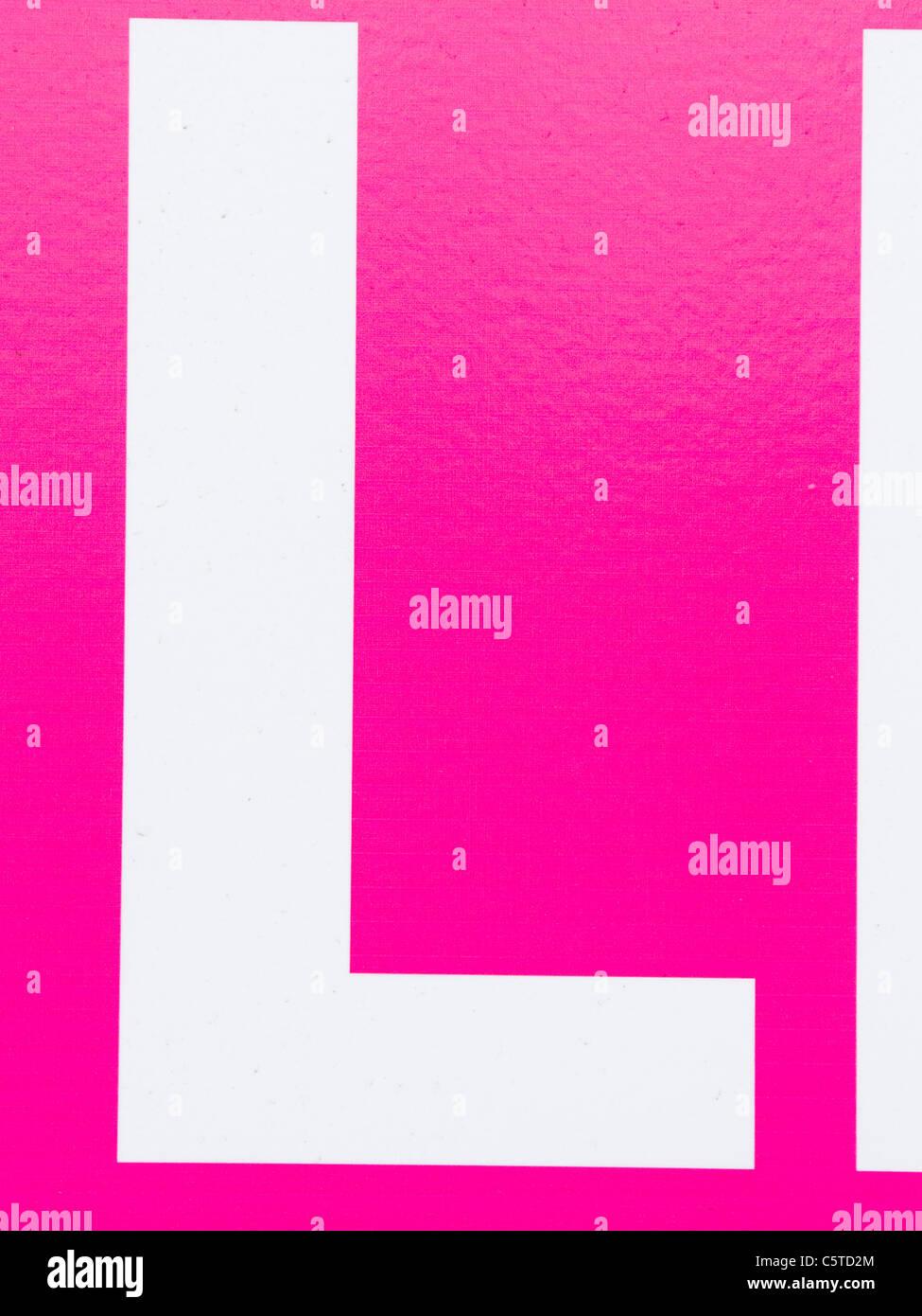 Alphabet L Stock Photos & Alphabet L Stock Images - Alamy