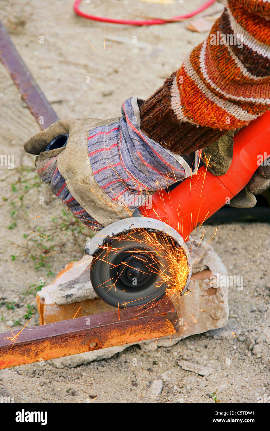 Winkelschleifer - angle grinder 02 - Stock Image