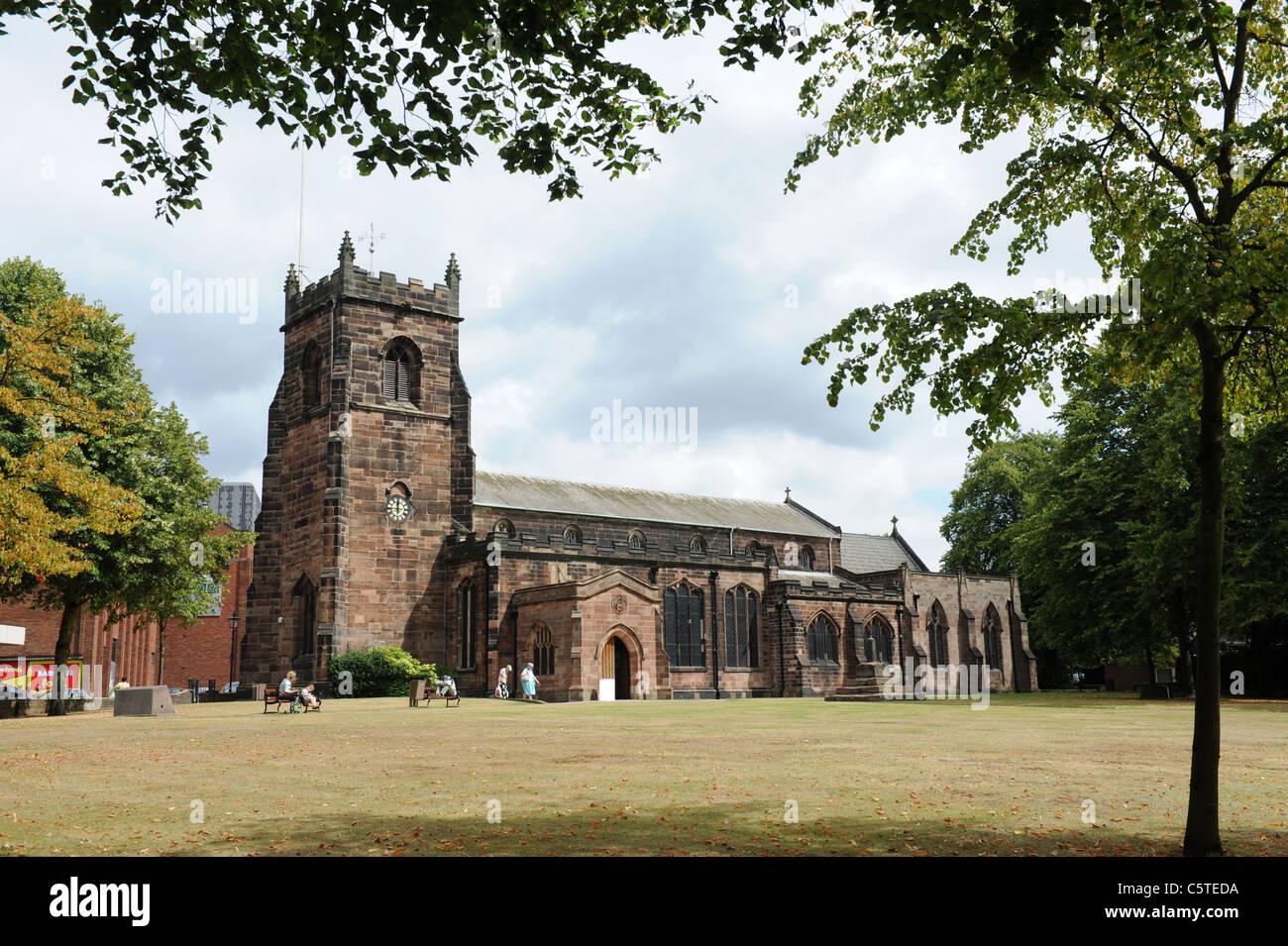 St. Luke's Church Cannock Staffordshire Uk - Stock Image