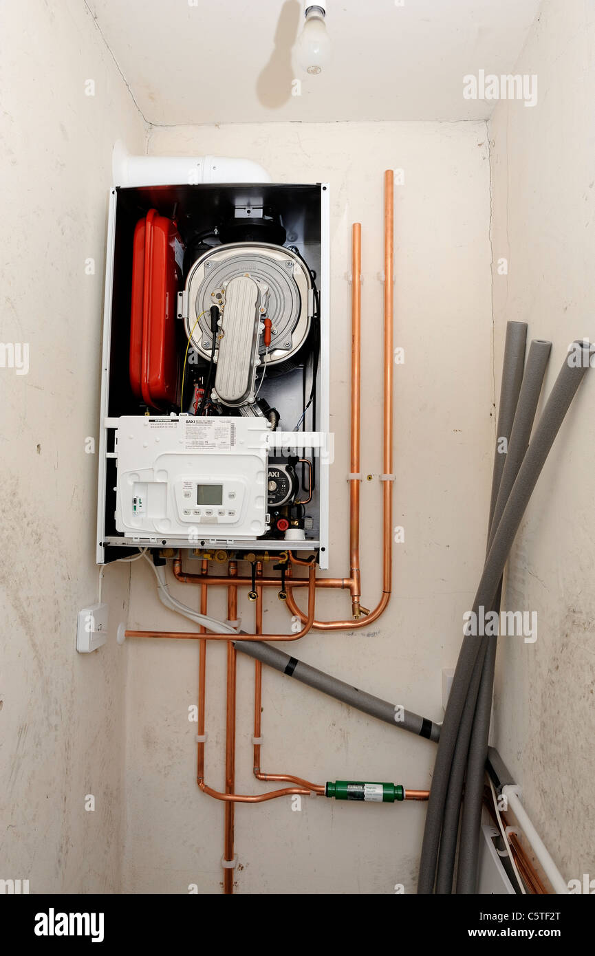 A baxi combi boiler being installed england uk Stock Photo: 38032704 ...