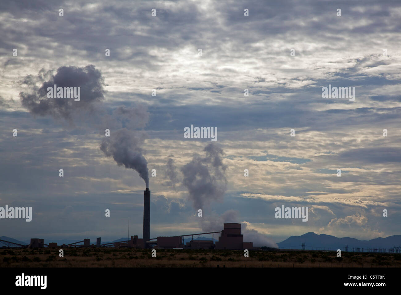 Delta, Utah - The coal-fired Intermountain Power Project, which generates electricity for Los Angeles. - Stock Image