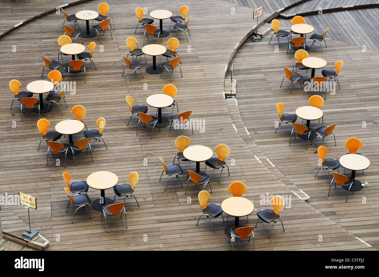 Seating at a food court - Stock Image