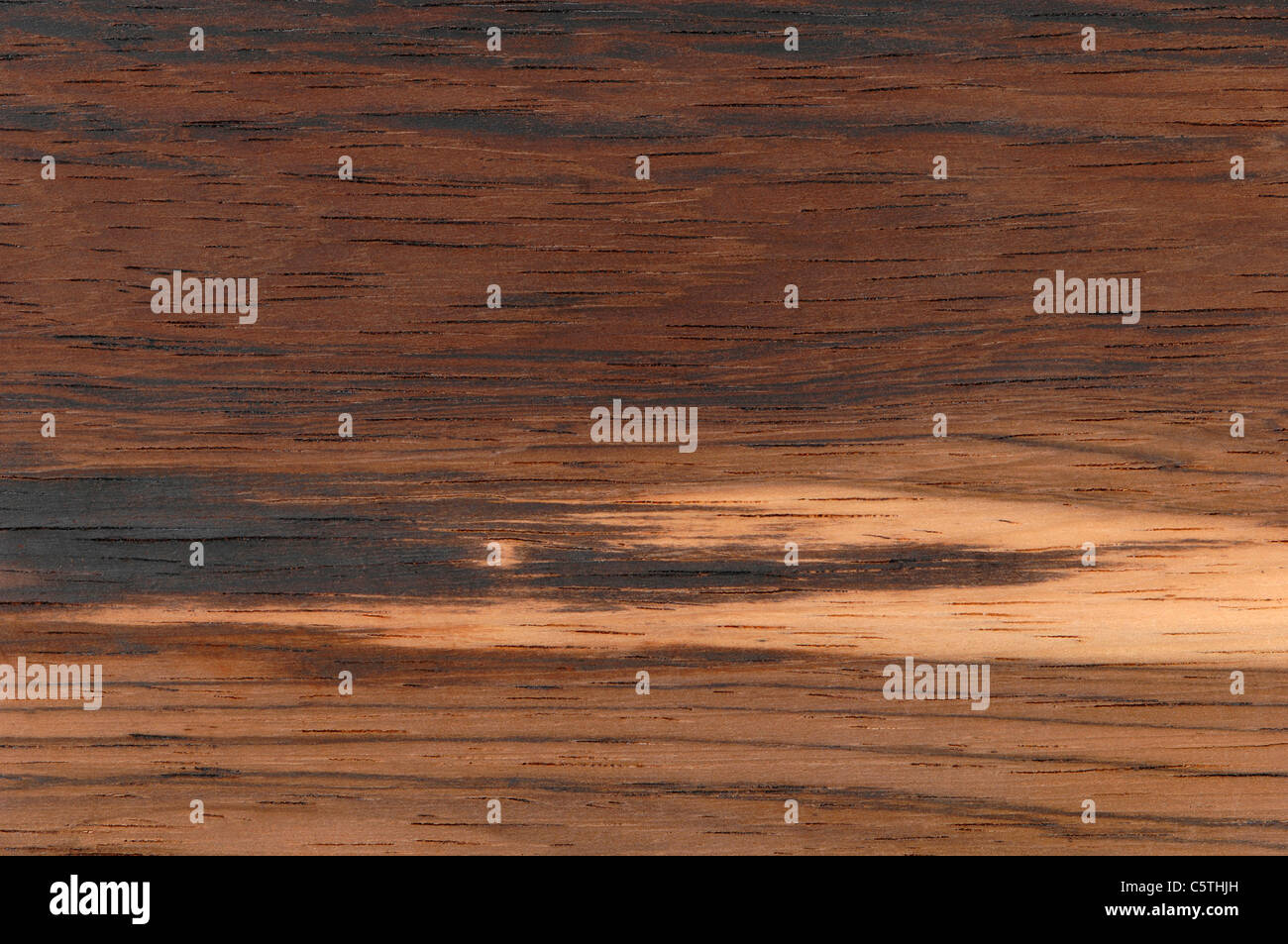 Wood surface,  Brazilian rosewood (Dalbergia nigra) full frame - Stock Image