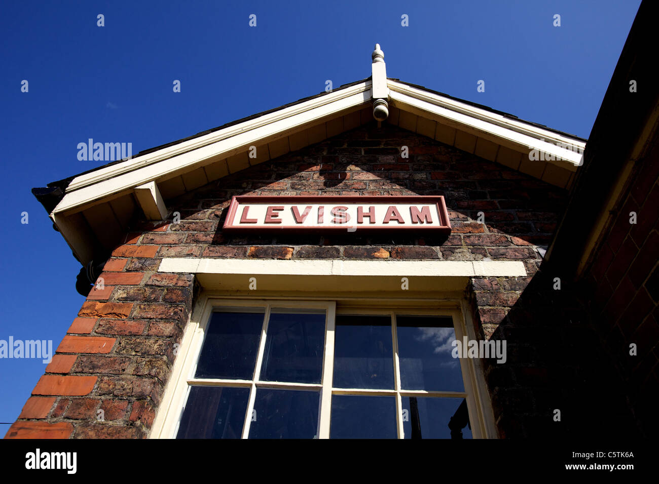 Levisham Railway Station signal box, Ryedale, North Yorkshire Moors. The station was opened in 1836 - Stock Image