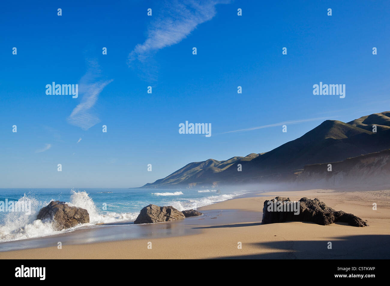 USA, California, Deserted beach Stock Photo