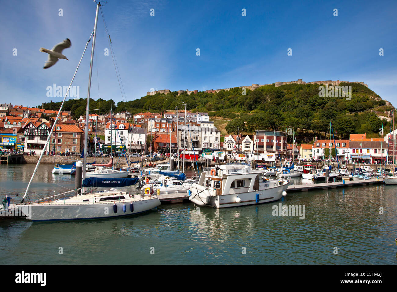 Scarborough Harbour, North Yorkshire - Stock Image