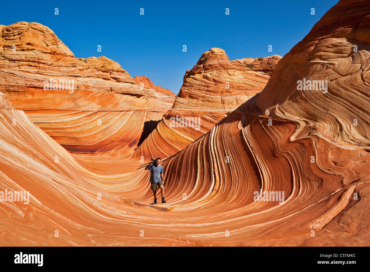 USA, Utah, North Coyote Buttes, Cliffs National Monument - Stock Image