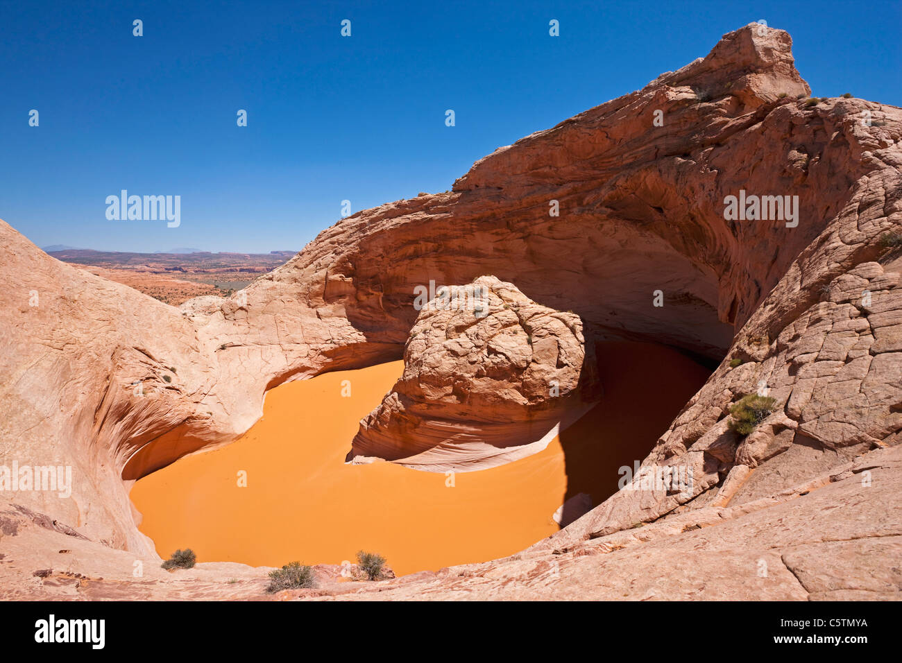USA, Utah, Grand Staircase Escalante National Monument, Crater lake Stock Photo