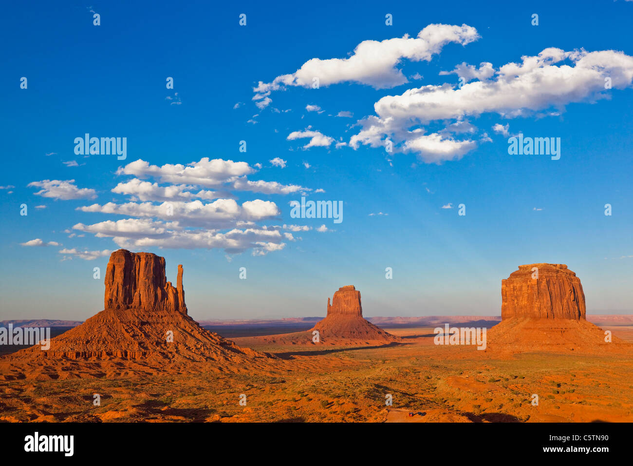 USA, Arizona, Monument Valley Tribal Park, West Mitten Butte - Stock Image