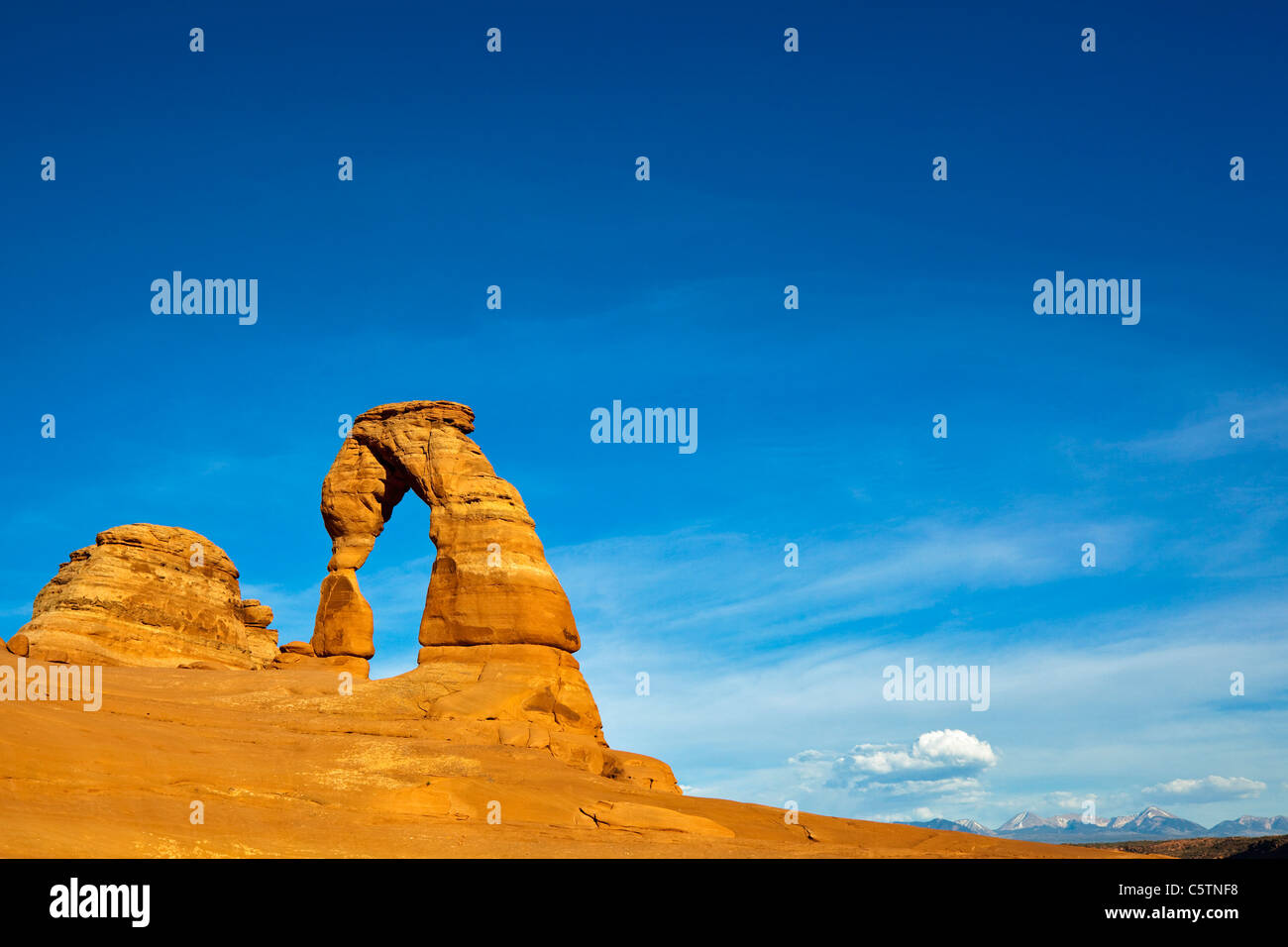 USA, Utah, Arches National Park, Delicate Arch - Stock Image