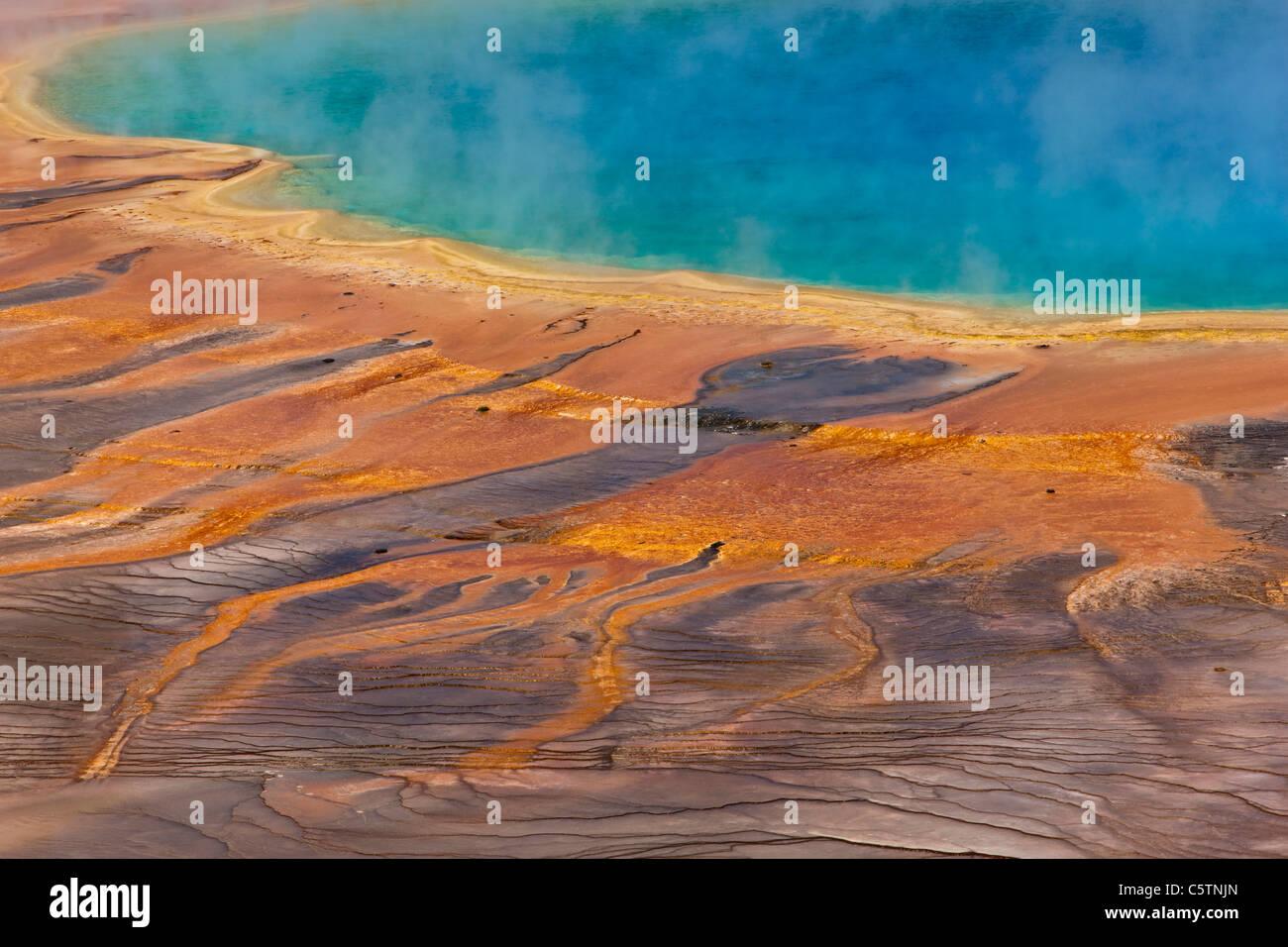 USA, Wyoming, Yellowstone National Park, Grand Prismatic Spring - Stock Image