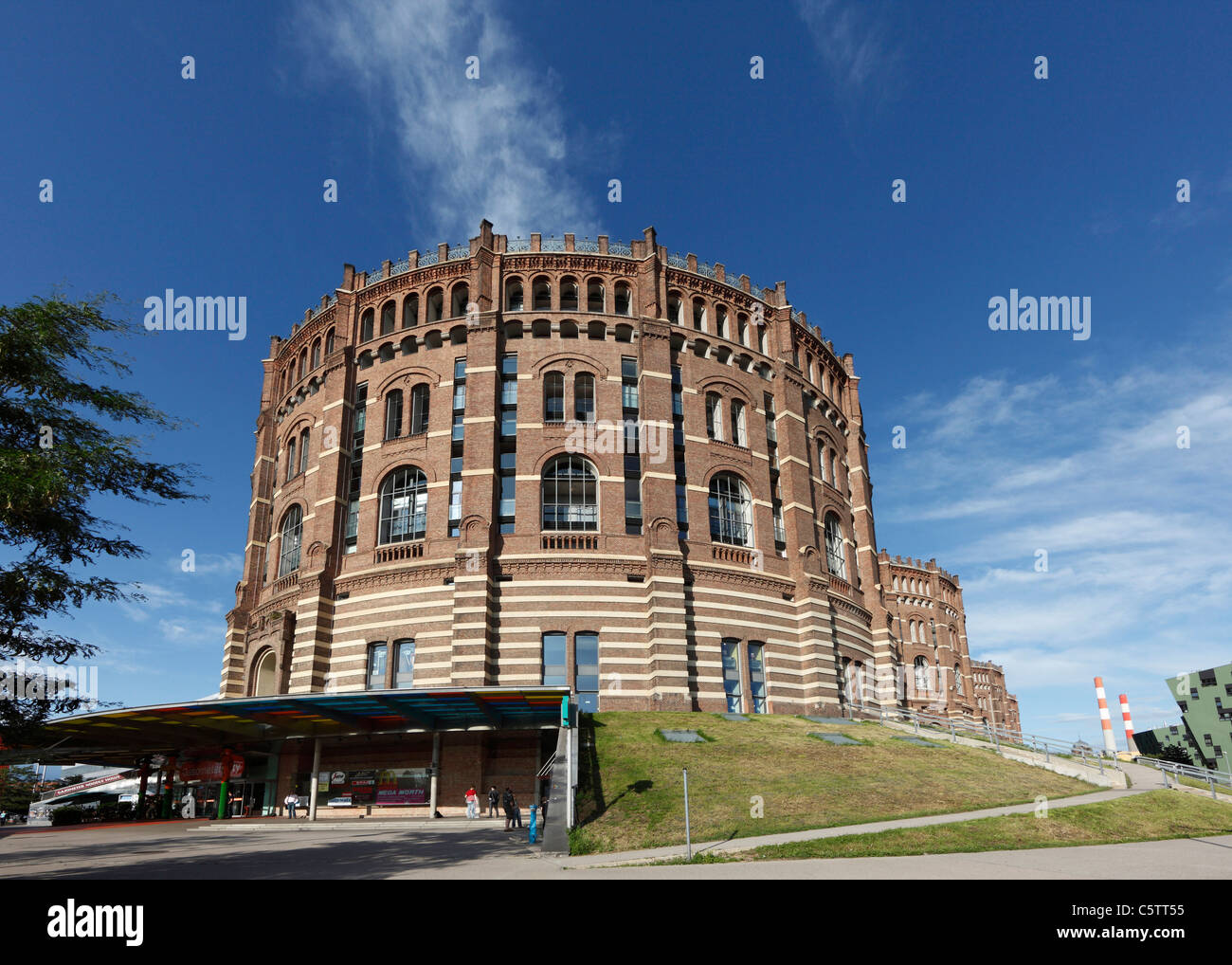Austria, Vienna, View of gasometer city in simmering district - Stock Image