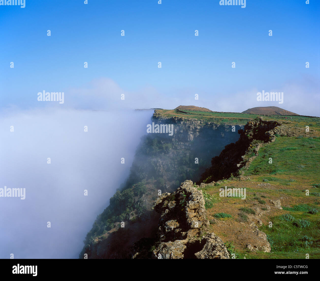 Spain, Canary Islands, El Hierro, View of clouds over mountain Stock Photo