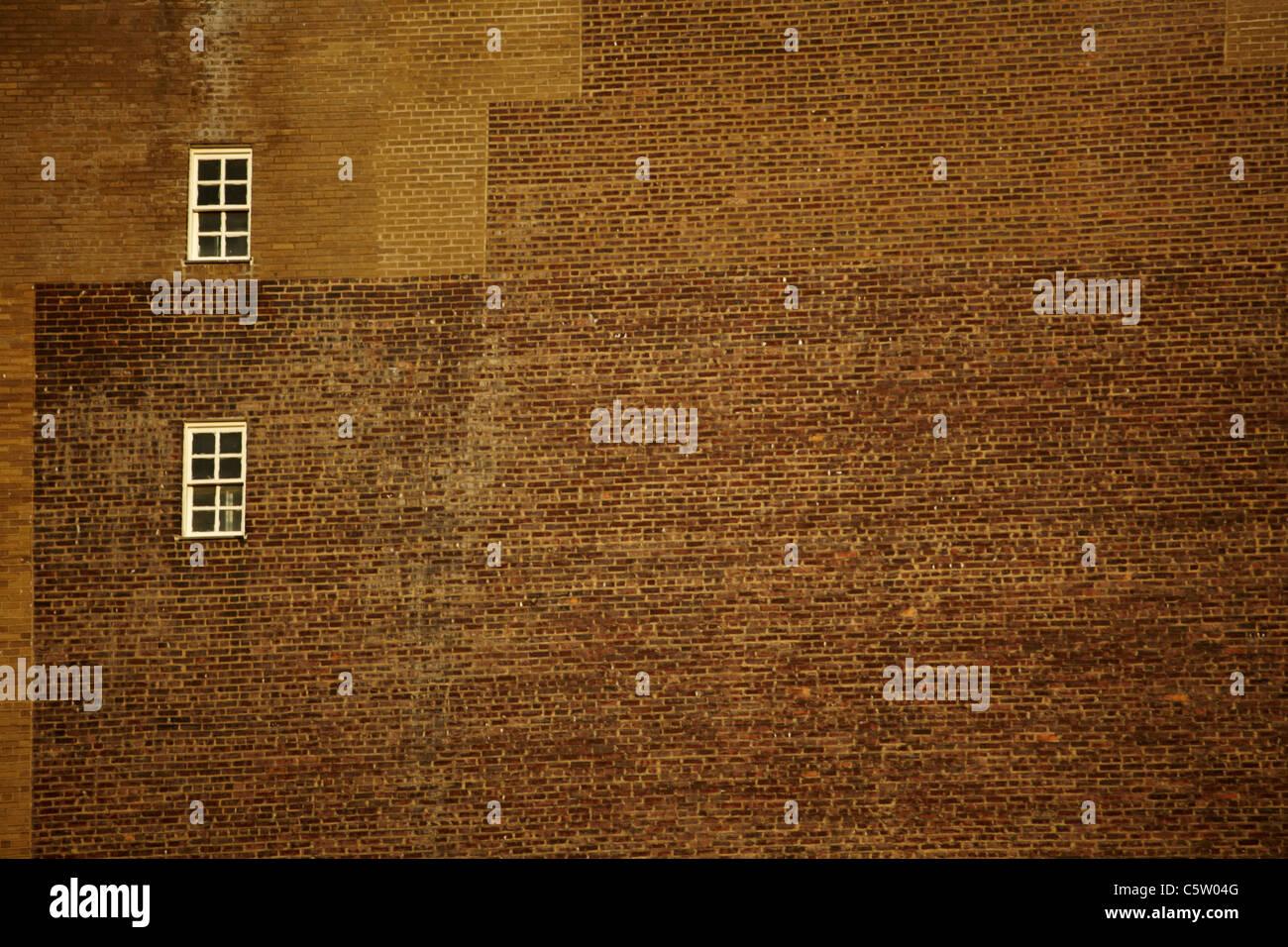 USA, New York, Manhattan, Brick wall, full frame - Stock Image