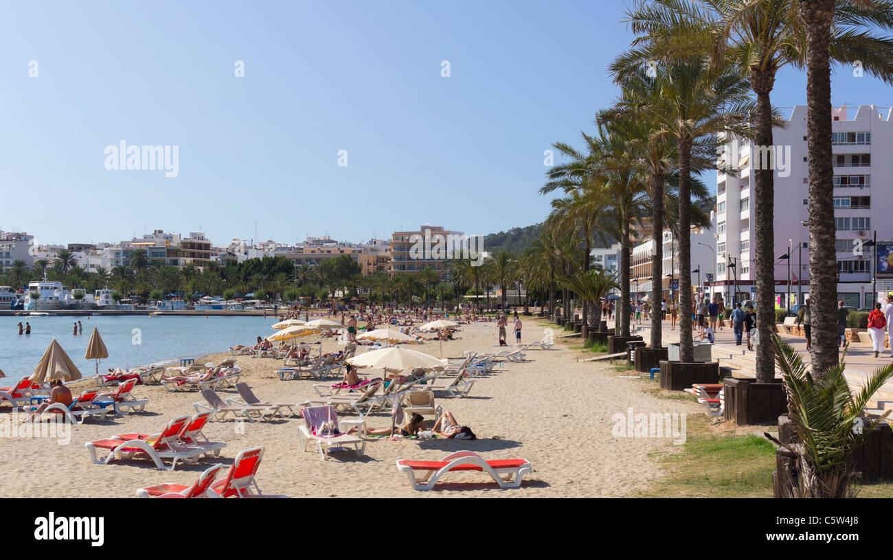 San Antonio Ibiza Beach Stock Photos & San Antonio Ibiza