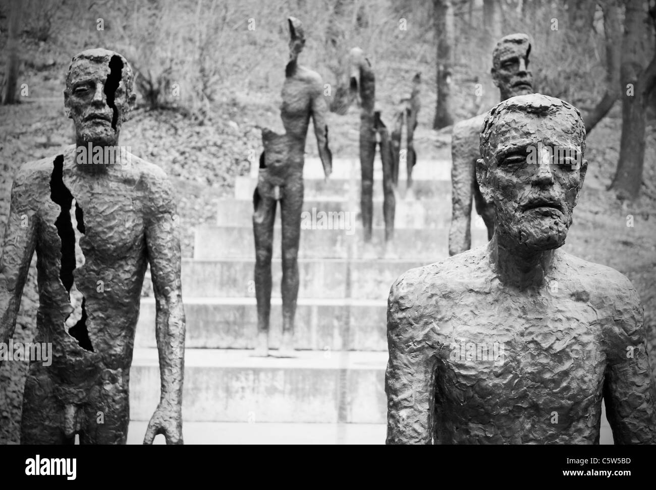 Czechoslovakia, Prague, Victims of Communism memorial - Stock Image