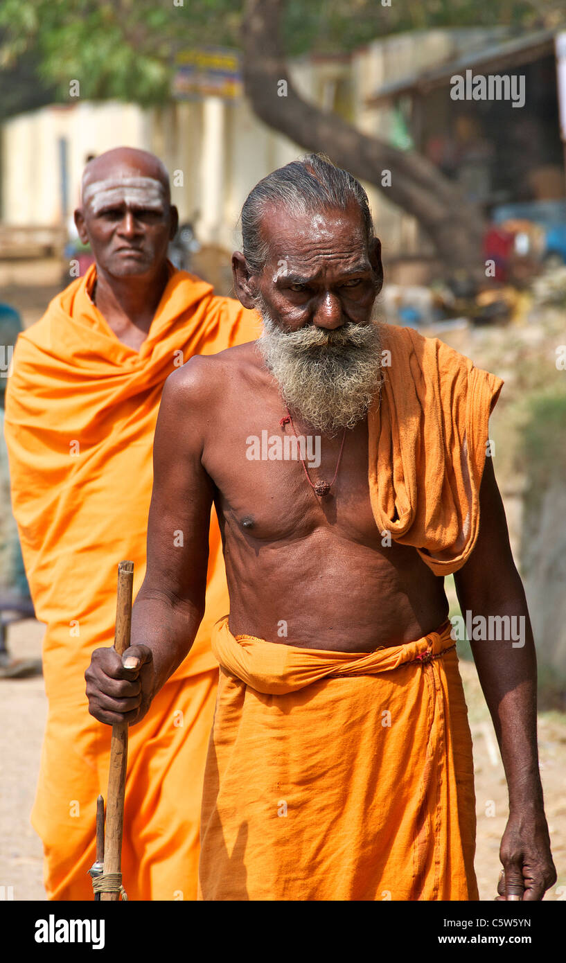 Sadhus Tiruvannamalai Tamil Nadu South India - Stock Image