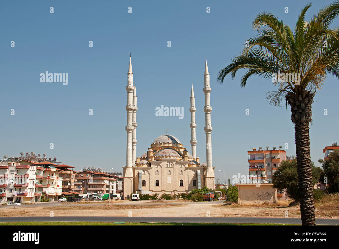 New Mosque near Alanya South Turkey Turkish - Stock Image