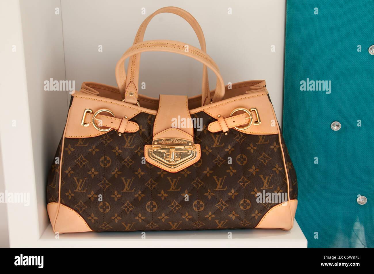Louis Vuitton  mock fake imitation forgery sham bag bags Turkey Turkish - Stock Image