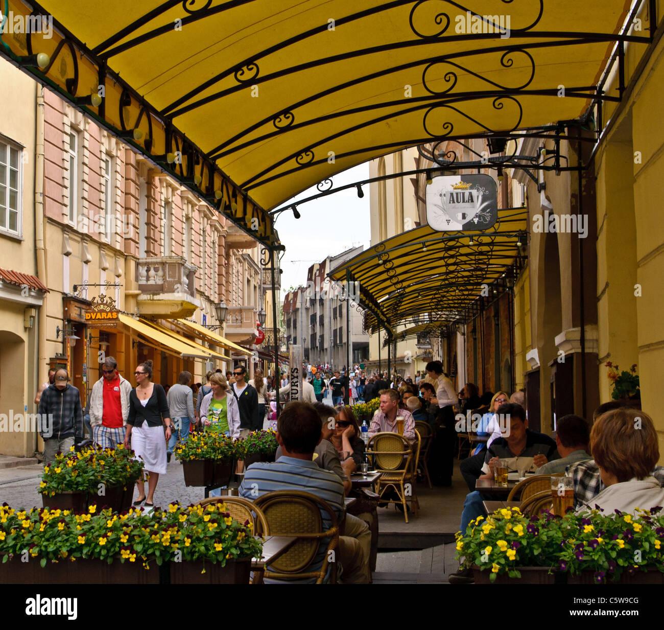 Pilies street - Vilnius, Lithuania - Stock Image