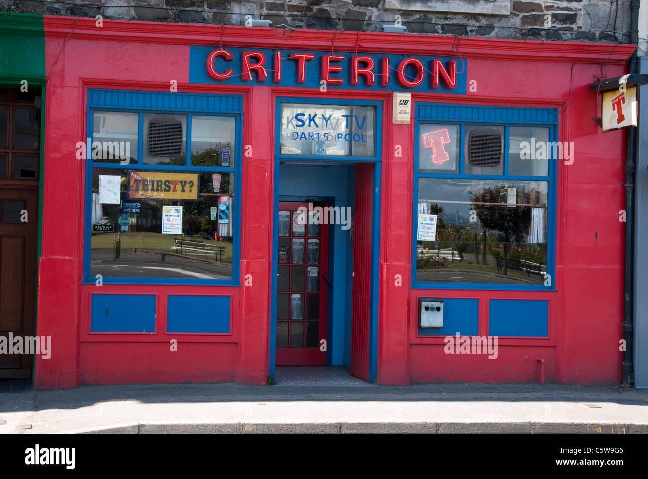 Criterion Bar Public House Gallowgate Rothesay Isle of Bute Argyll Scotland UK United Kingdom - Stock Image