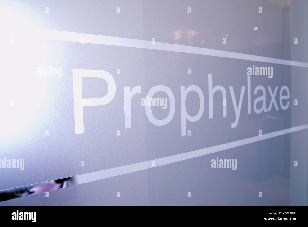 Dentist, Medical practice, Prophylaxis - Stock Image