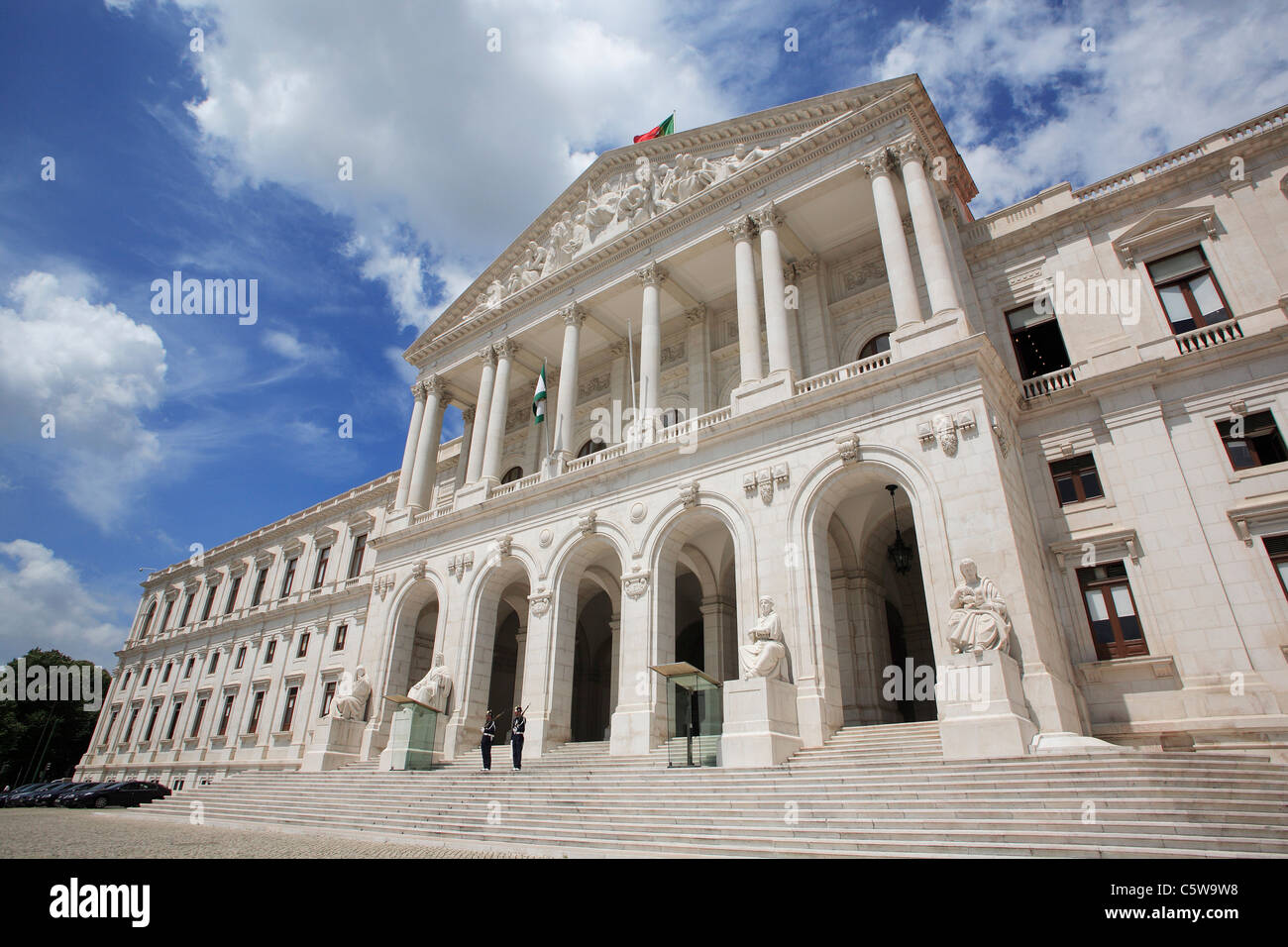 Portugal Lisbon View Of Government Building Stock Photo Alamy