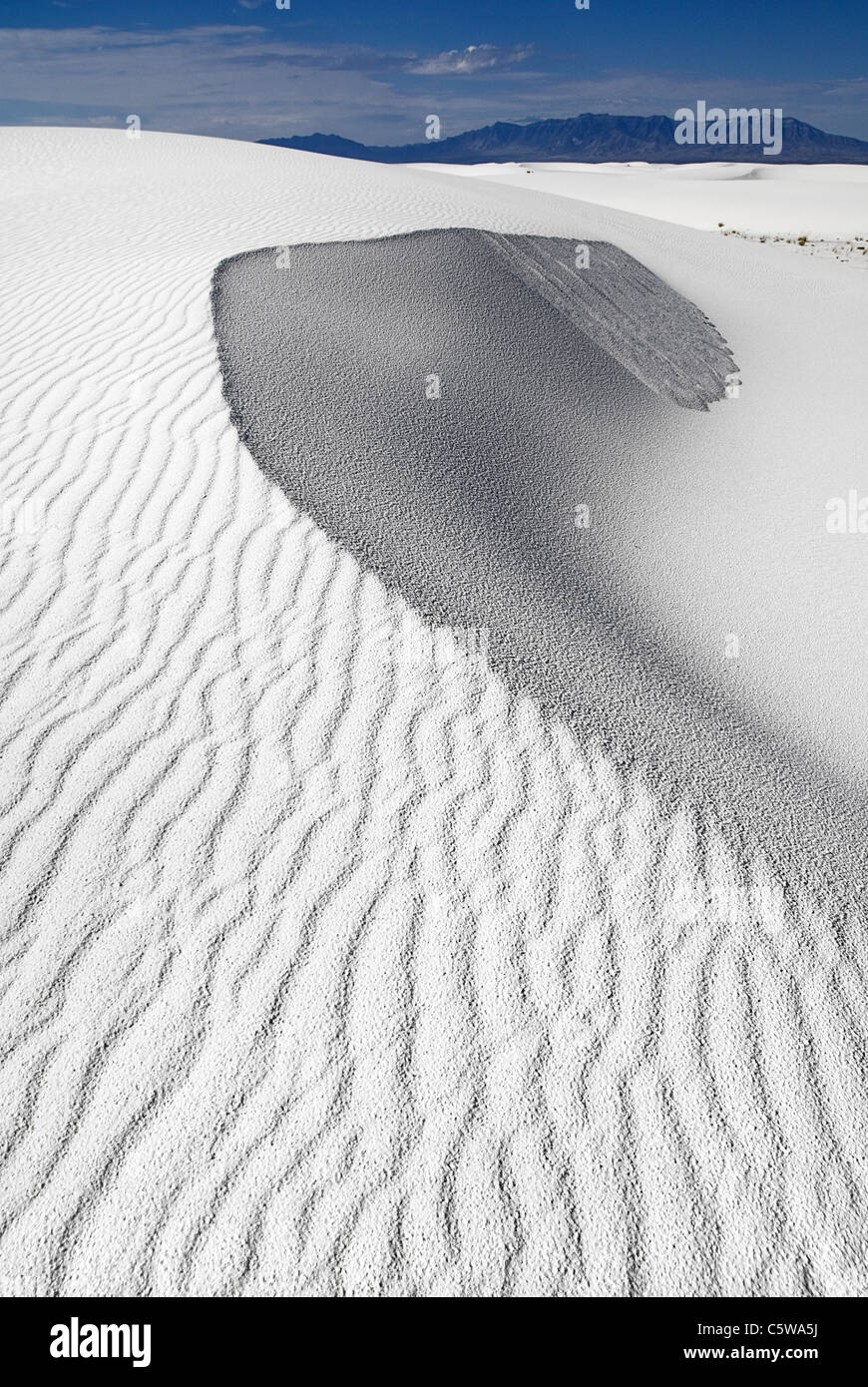 USA, New Mexico, View of white sands national monument - Stock Image