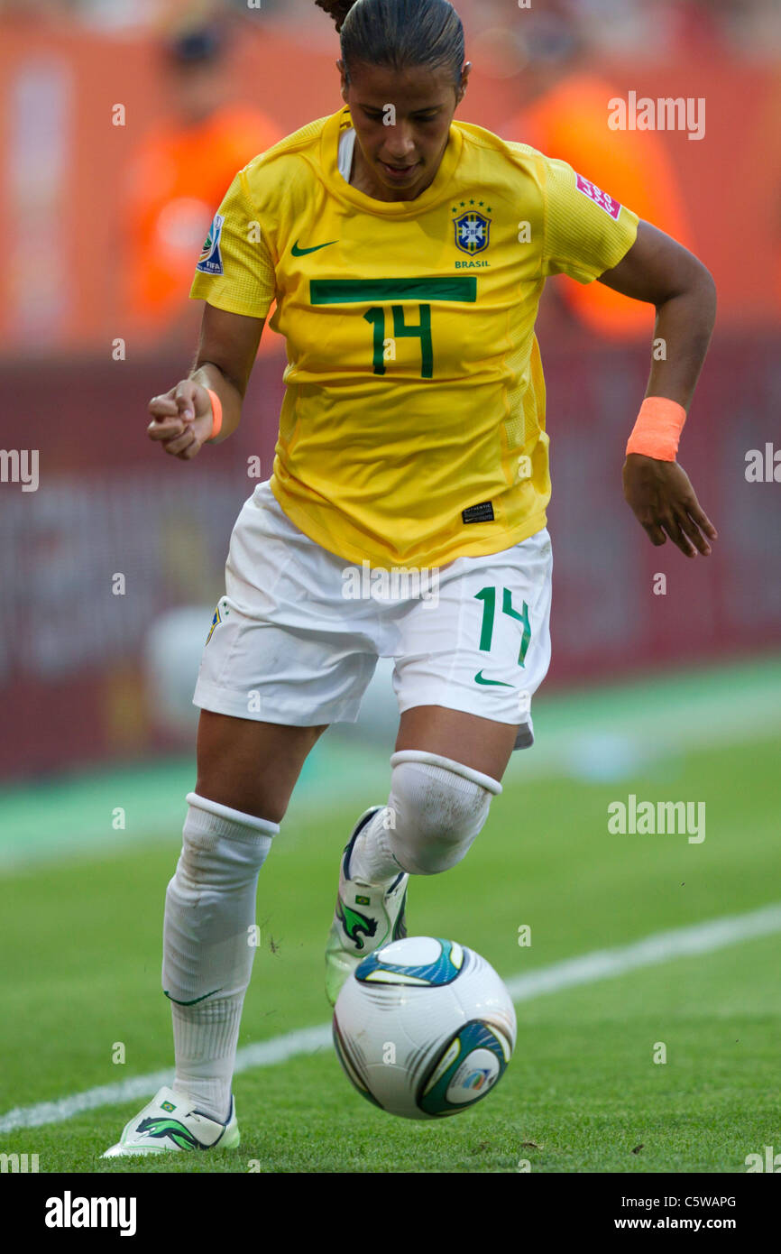 Fabiana of Brazil attacks against the United States during a FIFA Women's World Cup quarterfinal match July - Stock Image