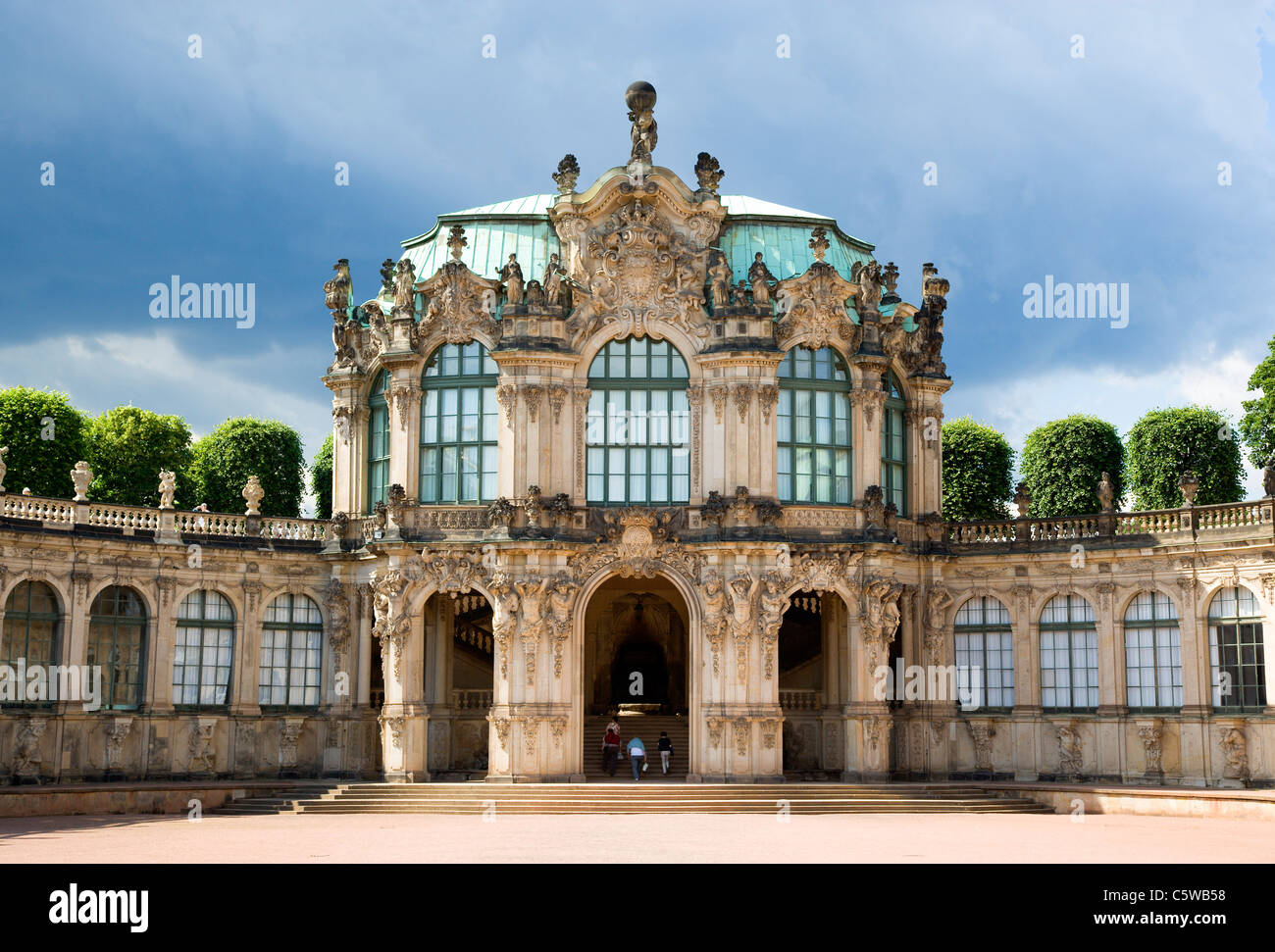 Germany, Saxony, Dresden,     Rampart Pavilion at Zwinger Palace - Stock Image