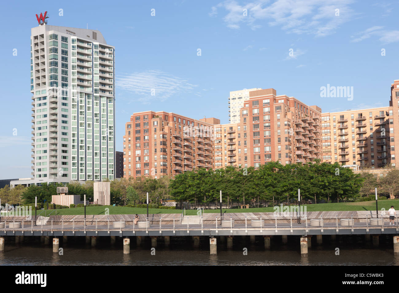 Waterfront redevelopment including the W Hotels W Hoboken and 333 River Street in Hoboken, New Jersey. - Stock Image