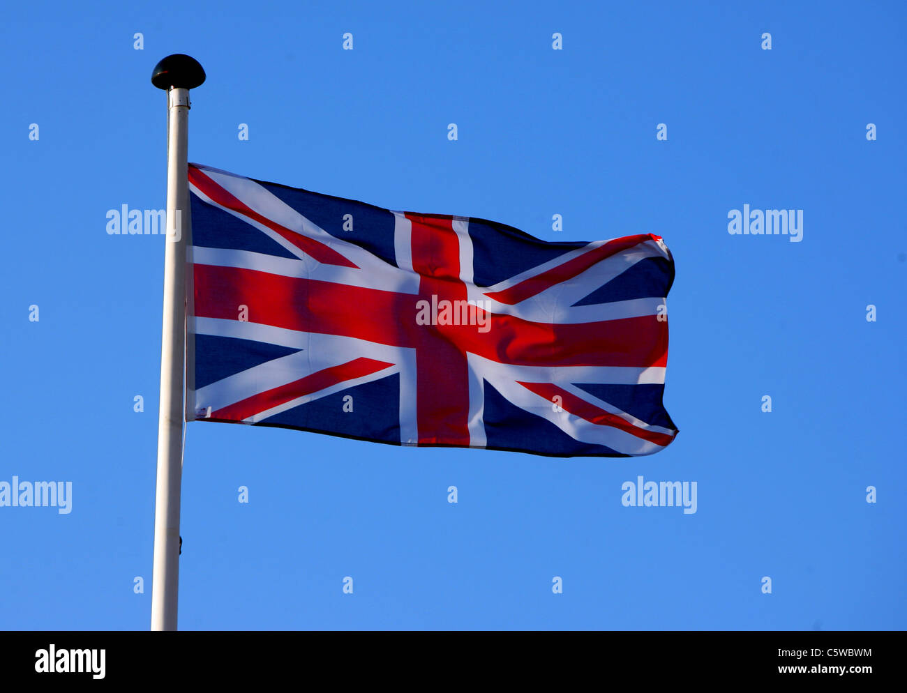 The British flag or Union Jack representing all the nations of the United Kingdom. Stock Photo