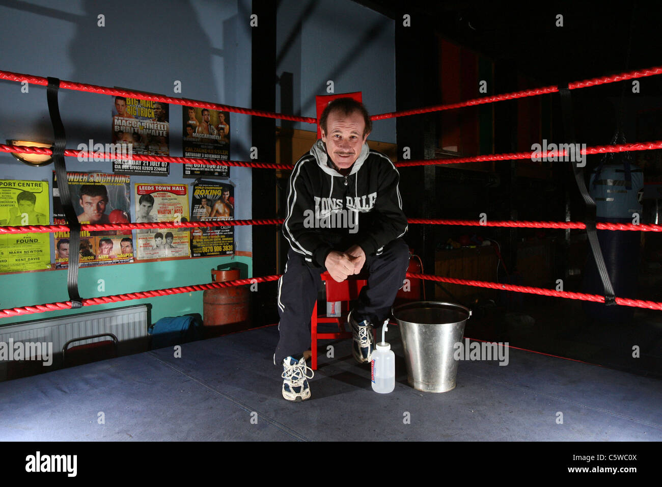 Enzo Calzaghe -  father and former trainer of retired world champion Joe Calzaghe. - Stock Image
