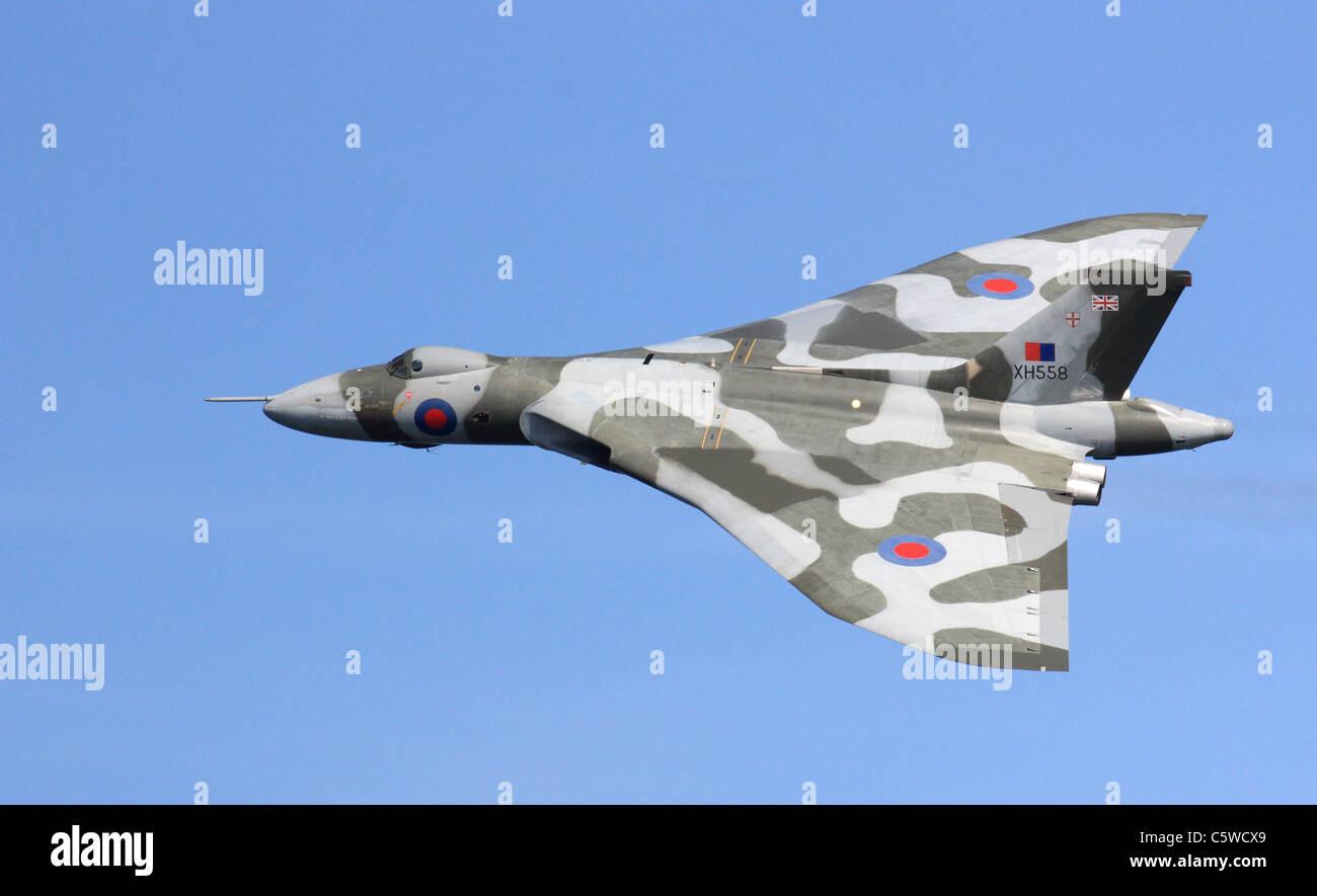 Vulcan bomber  Sunderland Air Show 2011, North East England, UK Stock Photo