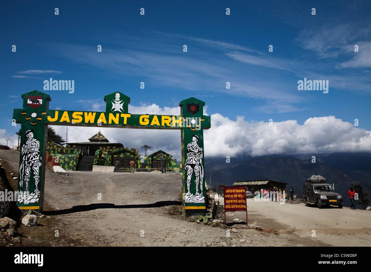 Jaswantgarh war memorial, Tawang, Arunchal Pradesh, India - Stock Image